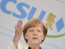 Europawahlkampf der CSU in Hof