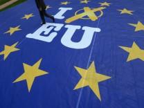 Aktion zur Europawahl in Wiesbaden