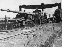 Deutsches Eisenbahngeschütz in Frankreich, 1918