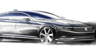 VW Passat 2015 - Designskizze