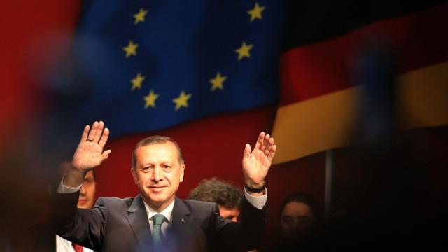 Türkischer Ministerpräsident Erdogan in Köln