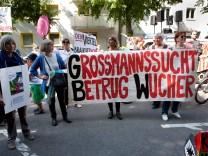 Demonstration: Keine Profite mit unserer Miete Ð GBW es reicht! Kundgebung in der Dom-Pedro-Straße 19 vor der GBW