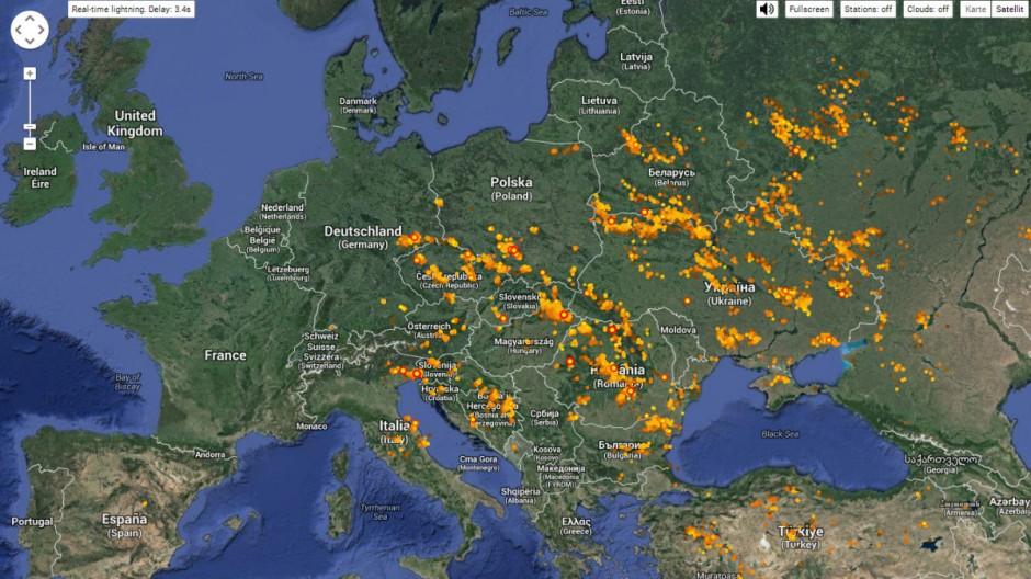 Blitzeinschlag Meteorologie