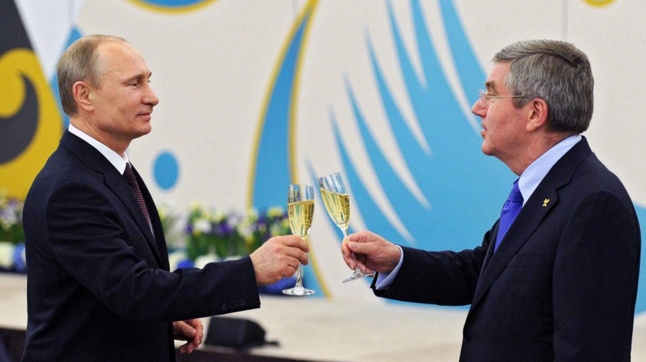 Thomas Bach, IOC, Wladimir Putin, Olympische Spiele, Sotschi 2014