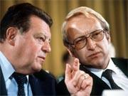 Franz Josef Strauß und Edmund Stoiber 1979, dpa