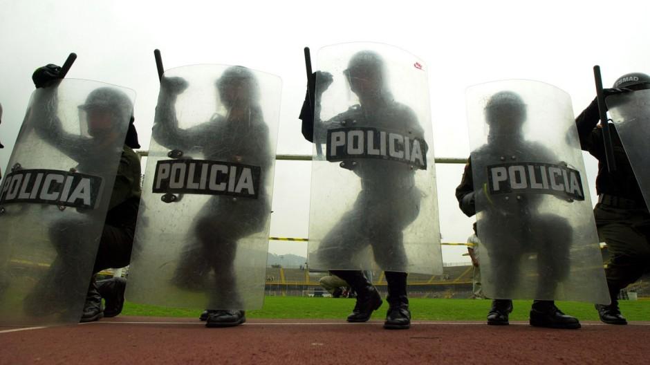 Polizisten in Kolumbien