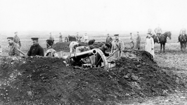Bulgarische Artillerie im Balkankrieg, 1913