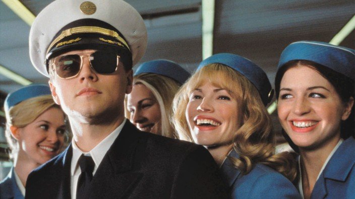 """Leonardo DiCaprio in """"Catch me if you can"""", 2003"""
