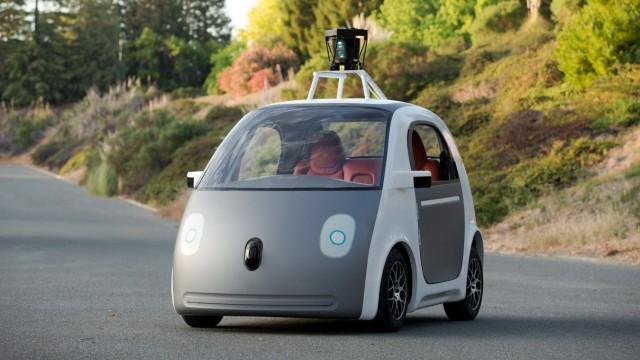 Google's own self-driving cars, no steering wheel
