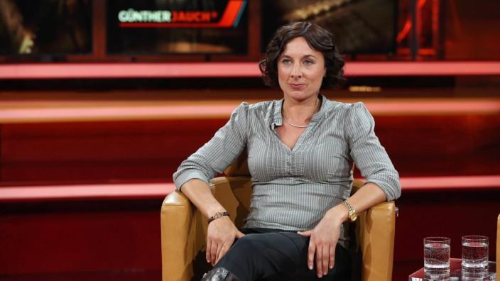 Juli Zeh Schriftstellerin Juristin in der ARD Talkshow GÜNTHER JAUCH am 25 05 2014 in Berlin Them