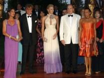Prince Albert II of Monaco arrives with royals and Wittstock for annual Red Cross gala ball in Monte Carlo