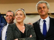 Press conference of European right-wing leaders at EU Parliament