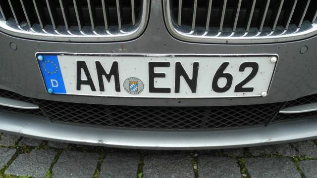 Das Kennzeichen eines BMW