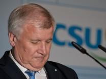 CSU Vorstandssitzung - Pressekonferenz