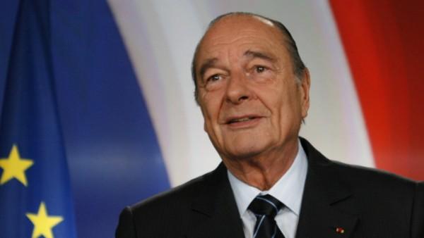 Jacques Chirac bei einer Rede 2007 im Élysée-Palast