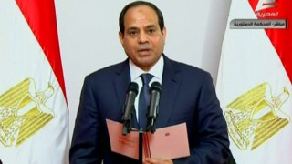 Abdel Fattah al-Sisi takes the oath of office during his swearing-in ceremony as Egypt's new president at the Supreme Constitutional Court in Cairo