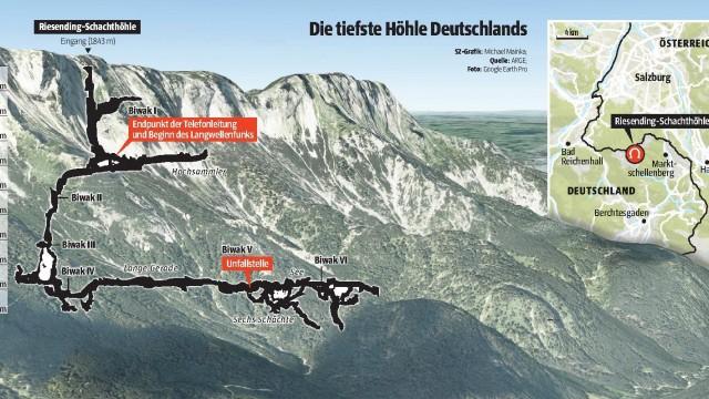 Riesending-Höhle Höhlen-Drama bei Berchtesgaden