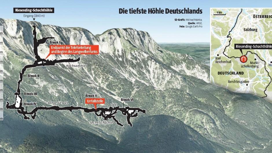 Riesending-Höhle Höhlen-Drama in Berchtesgaden