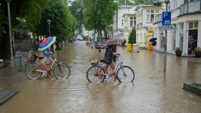 Unwetter über Usedom