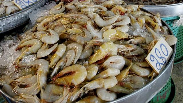 Fischmarkt in Bangkok, 2004