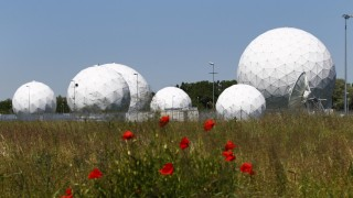 Former monitoring base of the National Security Agency (NSA), which belongs to the German Federal Intelligence Agency (BND), is seen in Bad Aibling