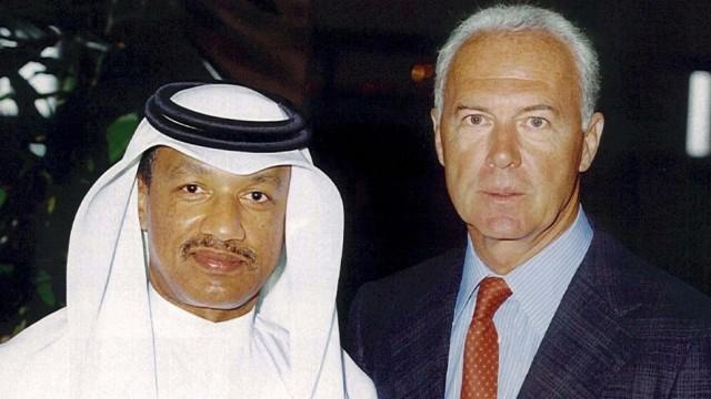 World Cup 2014 - Beckenbauer und Mohamed bin Hammam