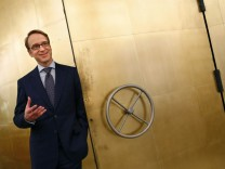 Germany's Bundesbank President Weidmann poses for a photograph in Frankfurt