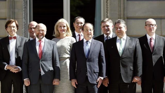 Di Rupo, Samsom, Schulz, Thorning-Schmidt, Ponta, Hollande, Fico, Gabriel, Sobotka