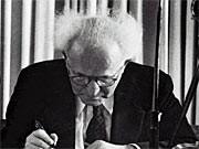 Israels Gründer David Ben-Gurion; dpa