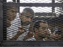 Peter Greste, Mohamed Fahmy, Baher Mohammed