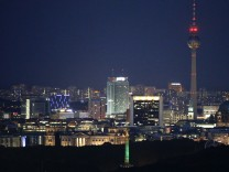 The skyline of Berlin is pictured
