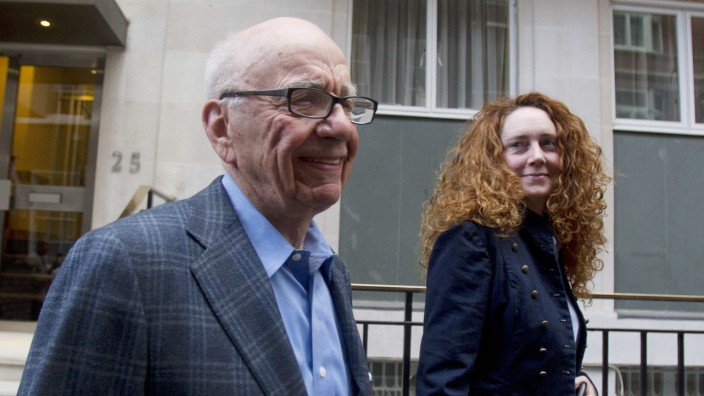 Rupert Murdoch mit Rebekah Brooks