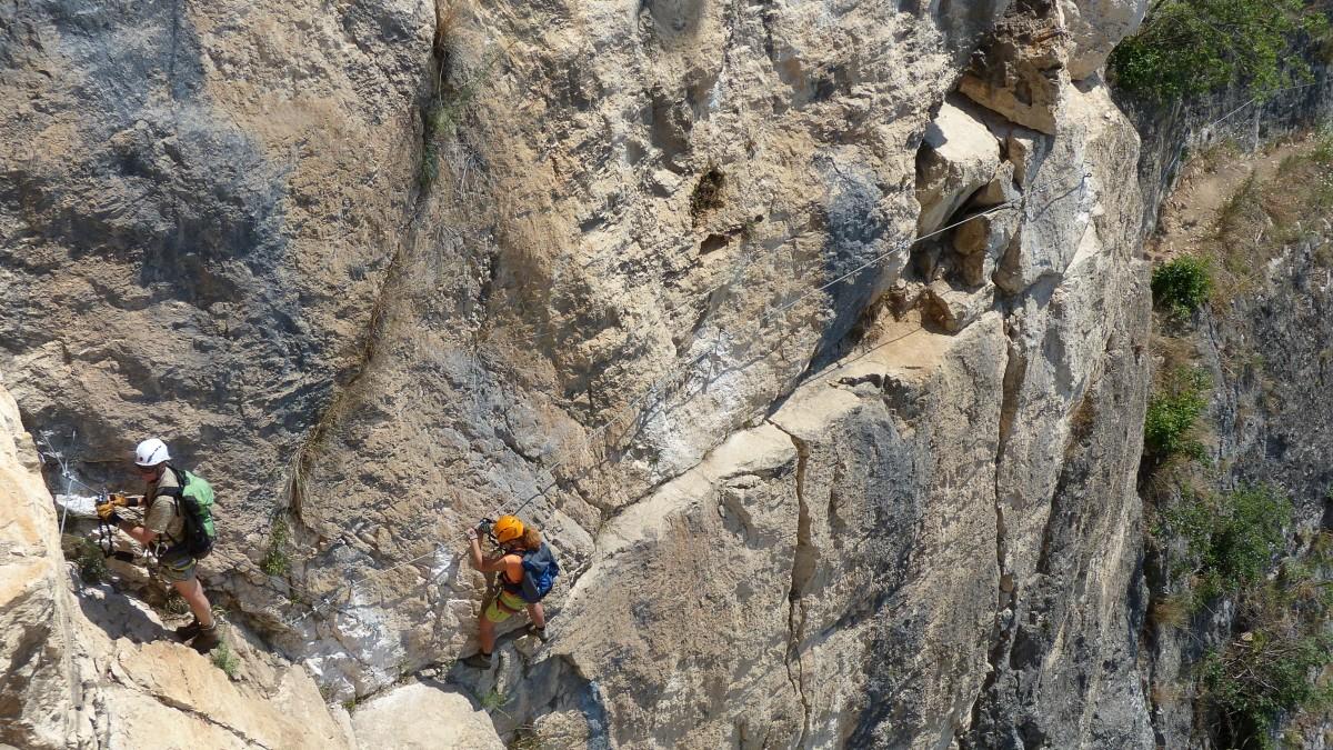 Klettersteig Gardasee : Klettersteige am gardasee für könner: via attrezzata monte alpen