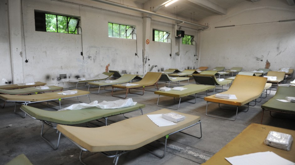 Flüchtlingsunterkunft in der Bayernkaserne