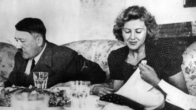 Adolf Hitler und Eva Braun