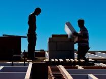 Männer auf einer Baustelle