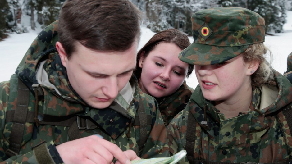 Bundeswehr Holds Alpine Adventure Camp 2014