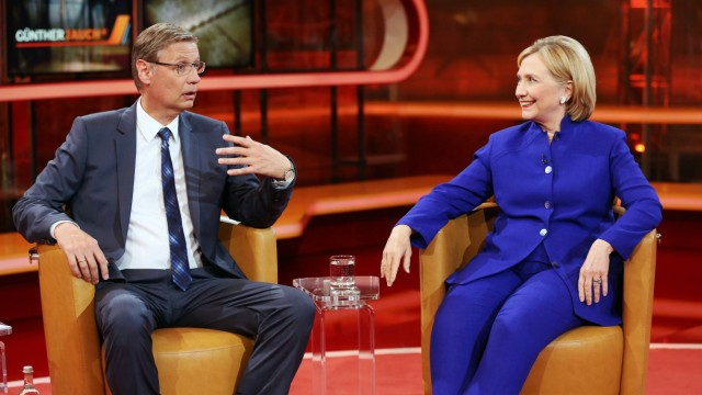 Günther Jauch Moderation mit Hillary Rodham Clinton Ehemalige Außenministerin der USA ehemalige