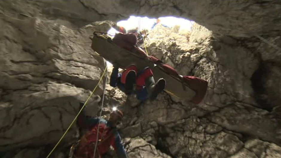 Rettungseinsatz für Höhlenforscher