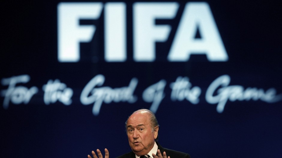 FIFA president Blatter delivers his speech on the second day of the 57th FIFA congress in Zurich