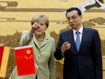 German Chancellor Angela Merkel on China visit