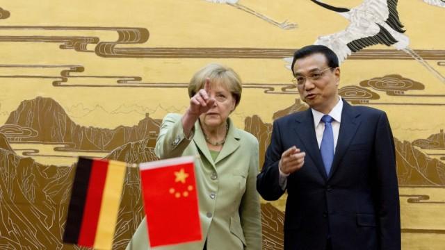 German Chancellor Angela Merkel on China visit