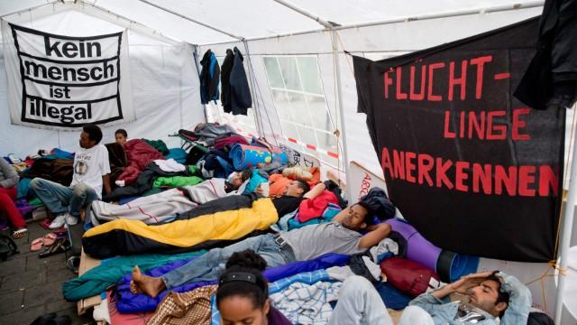 Asylbewerber im Hungerstreik