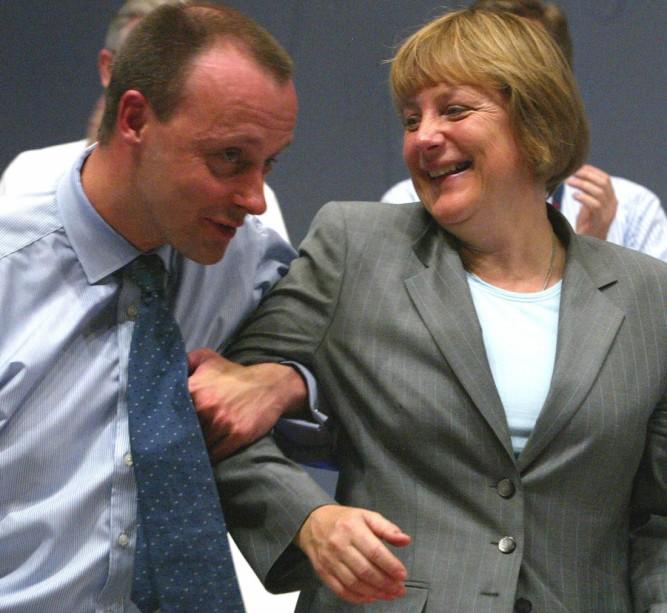 Friedrich Merz, Angela Merkel, 2002