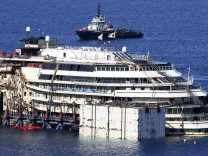 The cruise liner Costa Concordia is seen at Giglio harbour, Giglio Island