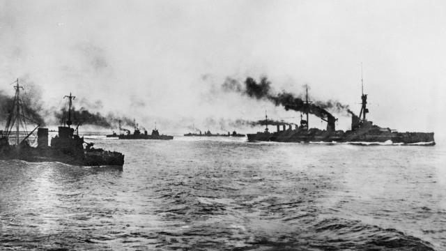 Deutsche Kriegsschiffe vor der Schlacht an der Doggerbank, 1915