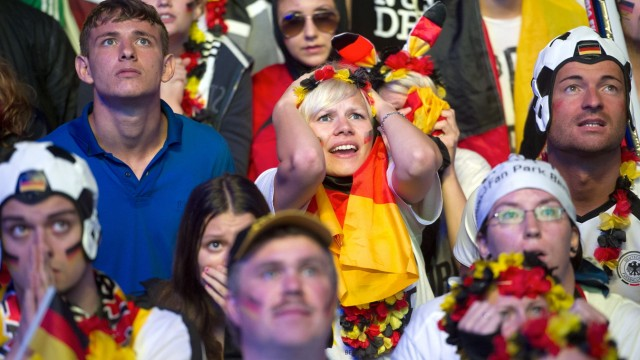 Germany Fans Watch 2014 FIFA World Cup Final