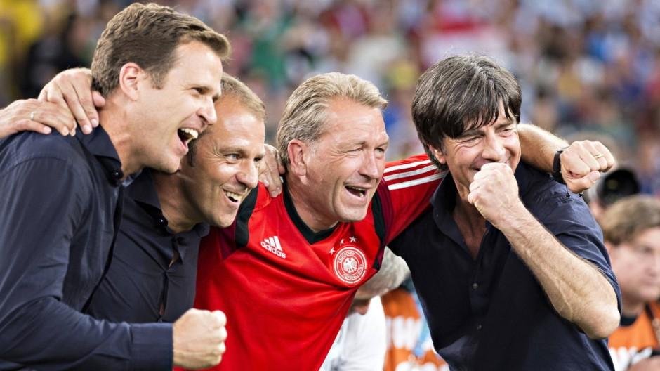 Rio de Janeiro 13 07 2014 Estadio do Maracana Schlussjubel Manager Oliver Bierhoff Deutschland