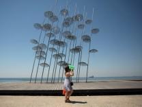 Promenade am Meer, Thessaloniki, Griechenland