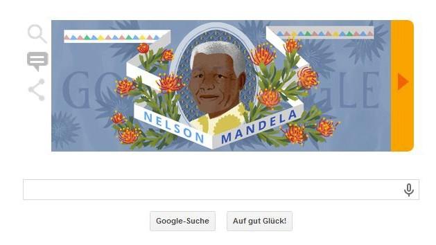 Nelson Mandela Google Doodle